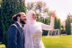 Mariage algérien et canadien Image libre de droits