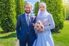 Mariage algérien et canadien Photographie stock