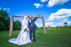 Mariage algérien et canadien Photographie stock libre de droits