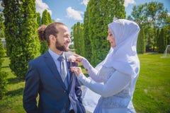 Mariage algérien et canadien Images stock