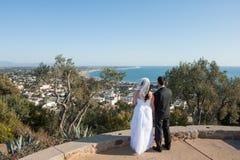 Mariage au-dessus de Ventura Photo libre de droits