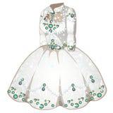 Mariage blanc ou robe cérémonieuse avec des pierres gemmes illustration libre de droits