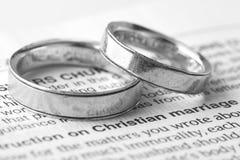 Mariage chrétien Images libres de droits