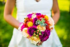 mariage coloré de bouquet Photos stock