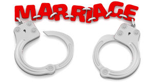 Mariage dans des menottes Image stock