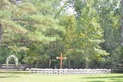 Mariage dans l'arrière-cour photo libre de droits