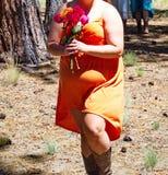 Mariage de botte de cowboy Image libre de droits