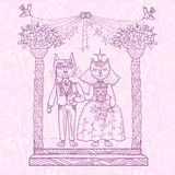 Mariage de chat Image stock