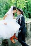 Mariage de cowboy, teinté Photo libre de droits
