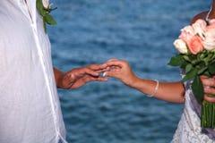 Mariage de mariée et de marié Photographie stock libre de droits