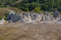 Mariage de pierre de phénomène de roche de vue panoramique, Bulgarie image libre de droits