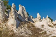 Mariage de pierre de phénomène de roche de vue panoramique, Bulgarie images libres de droits