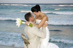 Mariage de plage des Caraïbes - Cele Photos libres de droits