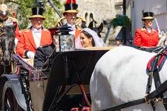 Mariage de prince Harry et de Meghan Markle Photos stock