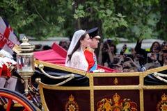 Mariage de prince William et de Catherine Photos stock