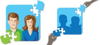 Mariage de puzzle Photos stock