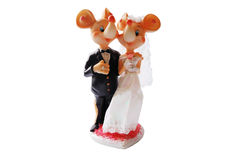 Mariage de souris de figurine Photos stock