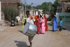 Mariage de village, Inde Photos libres de droits