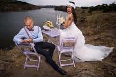 Mariage de vintage. Photographie stock libre de droits