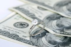Mariage et argent Photo stock