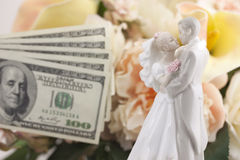 Mariage et finances image stock