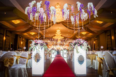 Mariage Hall Decoration Photographie stock libre de droits
