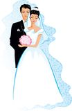 Mariage heureux Illustration de Vecteur