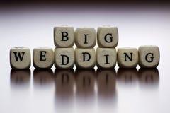 Mariage heureux de cube en textes Images stock
