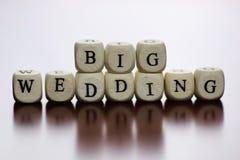 Mariage heureux de cube en textes Photos libres de droits