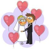 Mariage heureux de deux amants enclenchement Vecteur illustration stock