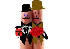 Mariage homosexuel de couples Photo stock