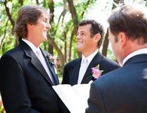 Mariage homosexuel - ensemble pendant la durée photographie stock libre de droits