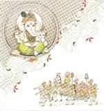 mariage indien de carte illustration de vecteur