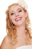 mariage Jeune femme romantique attirante de jeune mariée photos stock