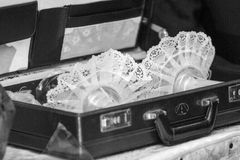 Mariage juif Chandeliers Photographie stock