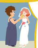 Mariage juif, tasse de vin donnée par jeune mariée par belle-mère illustration libre de droits