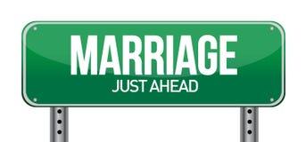 Mariage juste en avant Photographie stock