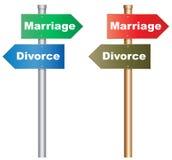 Mariage ou divorce Photographie stock libre de droits