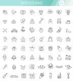 Mariage réglé d'icône de Web d'ensemble Photo stock