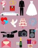 Mariage réglé d'icône illustration libre de droits