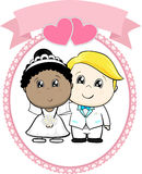 Mariage racial inter de couples illustration de vecteur
