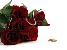 mariage rose de boucles rouge foncé Image libre de droits
