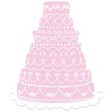 mariage rose de gâteau Photos stock