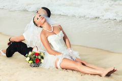 Mariage tropical Image stock