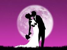 Mariages dans la lune Photo libre de droits