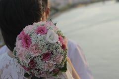 Mariages romantiques - bonheur d'amour Image libre de droits
