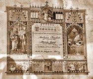 Mariagevergunning royalty-vrije stock afbeeldingen