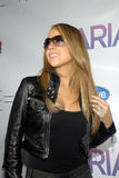 Mariah Carey à sa signature CD. Photo stock