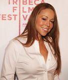 Mariah Carey. Pop diva Mariah Carey arrives on the red carpet for the premiere of Tennessee, at the 7th Annual Tribeca Film Festival in New York City; April 26 Royalty Free Stock Photos