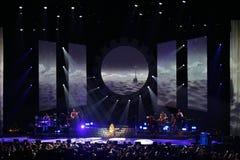 Mariah Carey ad Ericsson Globe a Stoccolma fotografie stock